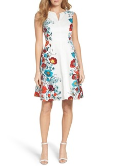Adrianna Papell Floral Fit & Flare Dress (Regular & Petite)