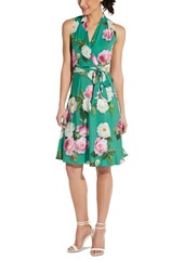 Adrianna Papell Floral-Print A-Line Dress