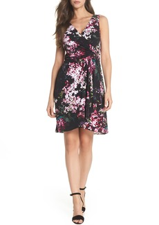 Adrianna Papell Floral Print Twist Front Dress