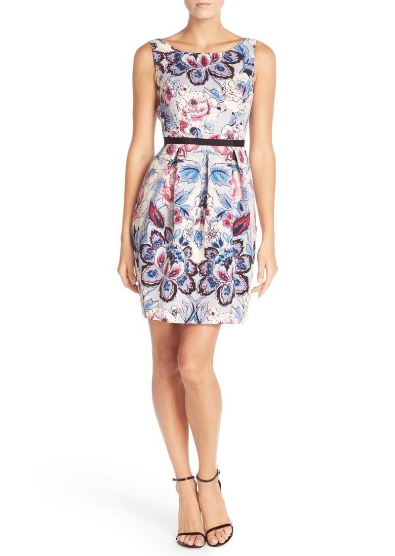 Adrianna Papell Floral Print Woven Fit & Flare Dress (Regular & Petite)