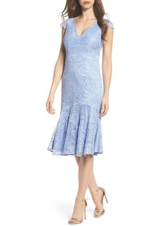 Adrianna Papell Flounce Hem Lace Dress