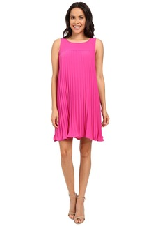 Adrianna Papell Flyaway Pleated Shift Dress