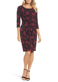Adrianna Papell Gathered Waist Sheath Dress