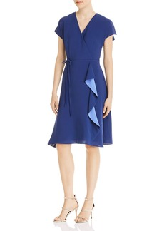 Adrianna Papell Gauzey Cr�pe Draped Dress