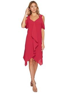 Adrianna Papell Gauzy Crepe Corkscrew Drape Dress