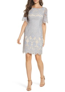 Adrianna Papell Georgia Lace Sheath Dress (Regular & Petite)
