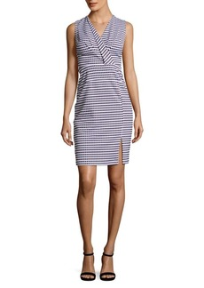 Adrianna Papell Gingham Sleeveless Fitted Dress