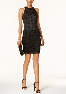 Adrianna Papell Guipere Lace Halter Dress