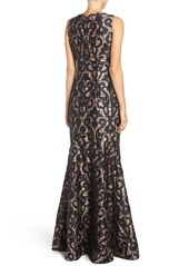 Adrianna Papell Guipure Lace Mermaid Gown