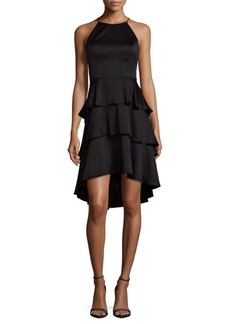 Adrianna Papell Hammered Charmeuse Dress