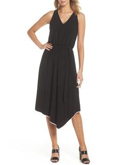 Adrianna Papell Handkerchief Hem Jersey Midi Dress