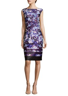 Adrianna Papell Ikat Floral Bodycon Dress