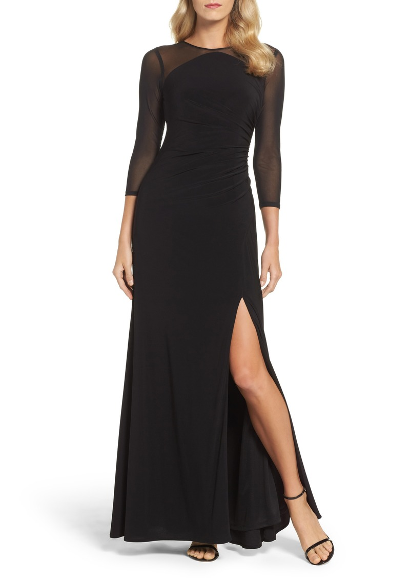 Adrianna Papell Adrianna Papell Illusion Jersey Gown (Regular ...