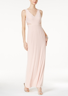 Adrianna Papell Illusion Lace Jersey Gown