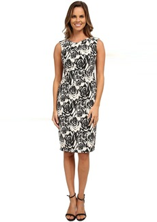 Adrianna Papell Jacquard Fitted Dress