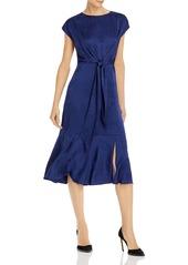 Adrianna Papell Jacquard Print Tie-Waist Dress