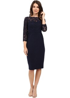 Adrianna Papell Jersey and Lace Cocktail Dress