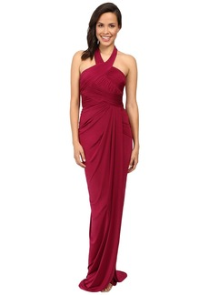 Adrianna Papell Jersey Draped Gown