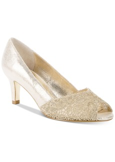 Adrianna Papell Jude Lace Peep-Toe Pumps Women's Shoes