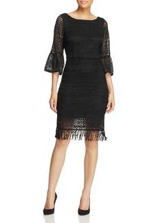 Adrianna Papell Julia Fringe Lace Sheath Dress