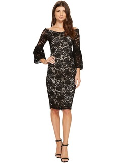 Adrianna Papell Juliet Lace Off Shoulder Fit and Flare Dress
