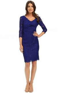 Adrianna Papell Juliet Lace Pleated Dress