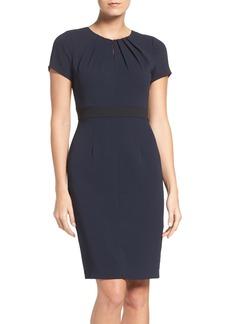 Adrianna Papell Keyhole Stretch Sheath Dress (Regular & Petite)