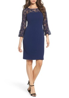 Adrianna Papell Lace & Crepe Dress