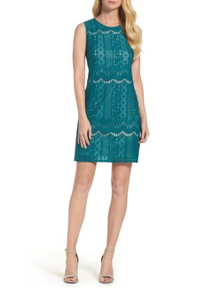 Adrianna Papell Lace A-Line Dress (Regular & Petite)
