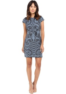 Adrianna Papell Lace and Sequin Cap Sleeve Dress