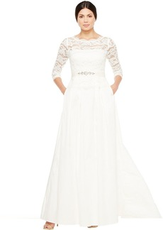Adrianna Papell Lace and Taffeta Ball Gown