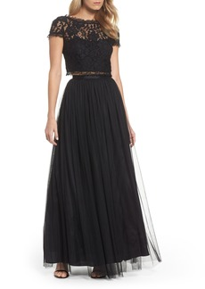 Adrianna Papell Lace and Tulle Two-Piece Dress