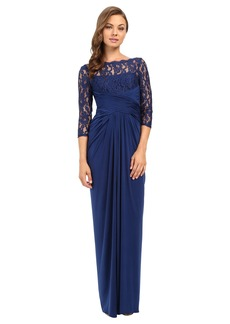 Adrianna Papell Lace and Venician Jersey Gown