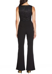 Adrianna Papell Lace Bodice Bell Bottom Jumpsuit