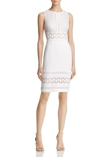 Adrianna Papell Lace-Detail Neoprene Dress