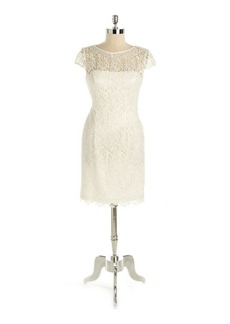 Adrianna Papell Lace Illusion Cocktail Dress