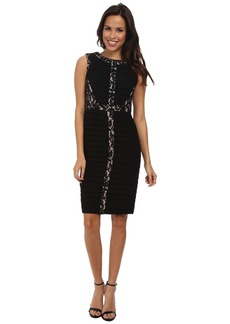 Adrianna Papell Lace Inset Banded Dress