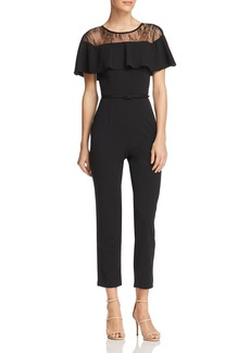 Adrianna Papell Lace Inset Jumpsuit