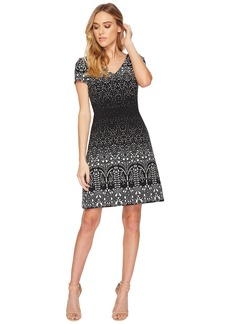 Adrianna Papell Lace Majesty Printed A-Line