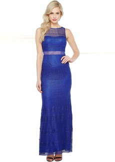 Adrianna Papell Lace Modified Mermaid Gown