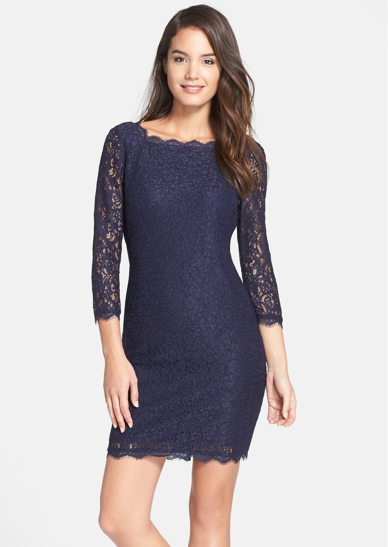 487ef971 Adrianna Papell Adrianna Papell Lace Overlay Sheath Dress (Regular ...