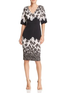 Adrianna Papell Lace Print Sheath Dress