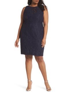 Adrianna Papell Lace Sheath Dress (Plus Size)