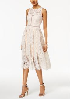 Adrianna Papell Lace Tea-Length Dress