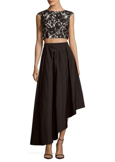 Adrianna Papell Lace Top & Skirt Set