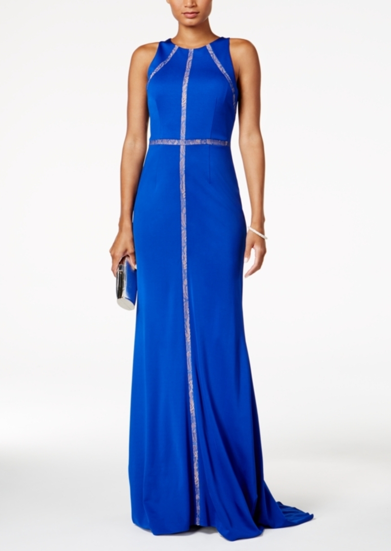 Adrianna Papell Lace-Trim Gown