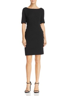 Adrianna Papell Lace-Up Sheath Dress
