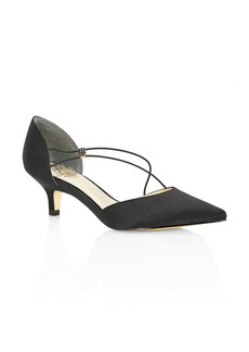 Adrianna Papell Lacy Asymmetrical d'Orsay Pump (Women)