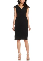 Adrianna Papell Lacy Jersey Pintuck Dress