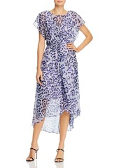 Adrianna Papell Leopard Print High/Low Dress